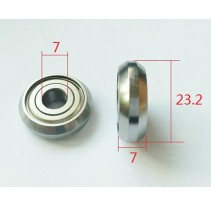 Track Rollers C28ZZ C28-2RS Bevel Bearing
