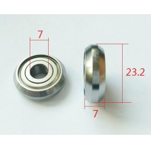 Track Rollers C63ZZ C63-2RS Bevel Bearing
